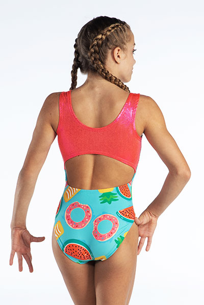 Watermellon Pineapple Print Open Back Back